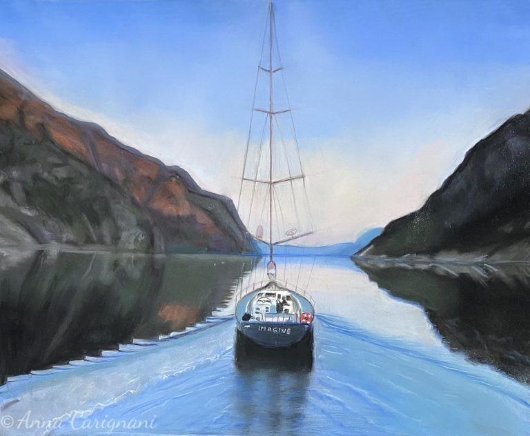 Barca a vela nei fiordi della Norvegia