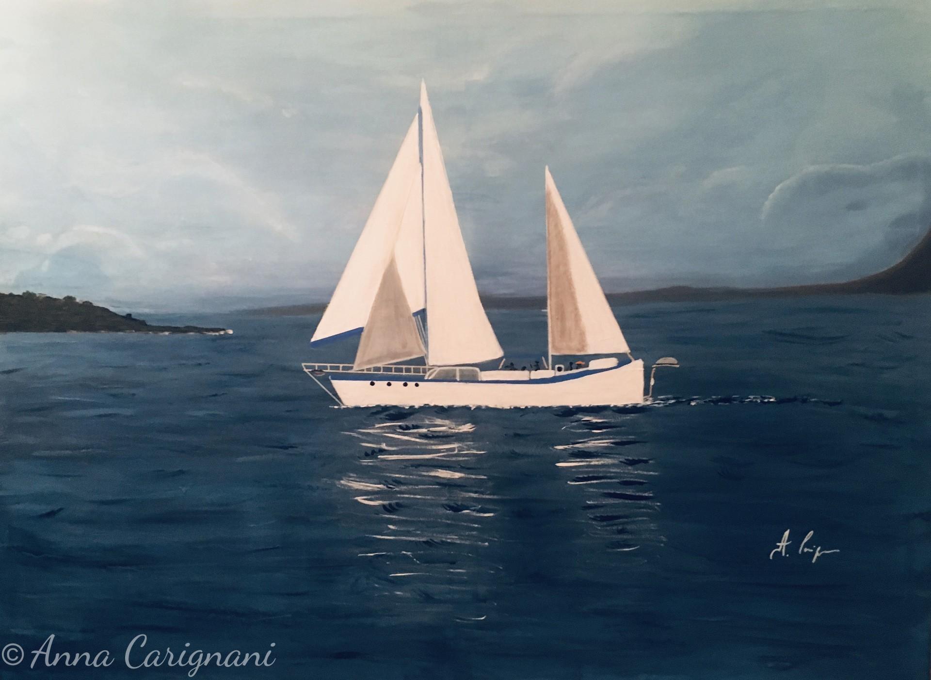 Costa Sorrento a con barca a vela
