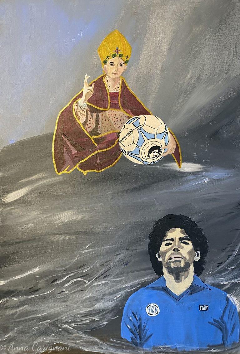 Maradona incontra S.Gennaro