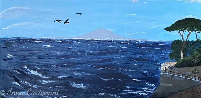 Sorrento con mare agitato